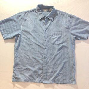 XL 17-17.5 MICHAEL BRANDON Blue Short Button Down